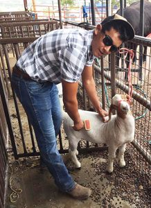 Gabe with goat